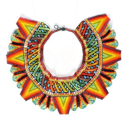 Collar De Micro Chaquira Artesanía Huichol Ahar 00087