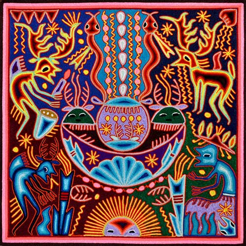 Tabla de estambre - Arte Huichol